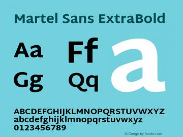 Martel Sans ExtraBold Version 1.002; ttfautohint (v1.1) -l 5 -r 5 -G 72 -x 0 -D latn -f none -w gGD -W -c图片样张