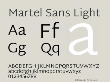 Martel Sans Light Version 1.002; ttfautohint (v1.1) -l 5 -r 5 -G 72 -x 0 -D latn -f none -w gGD -W -c图片样张
