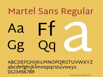 Martel Sans Regular Version 1.002; ttfautohint (v1.1) -l 5 -r 5 -G 72 -x 0 -D latn -f none -w gGD -W -c图片样张