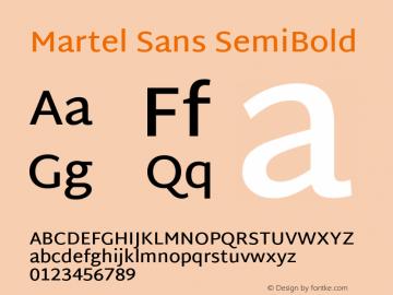 Martel Sans SemiBold Version 1.002; ttfautohint (v1.1) -l 5 -r 5 -G 72 -x 0 -D latn -f none -w gGD -W -c图片样张