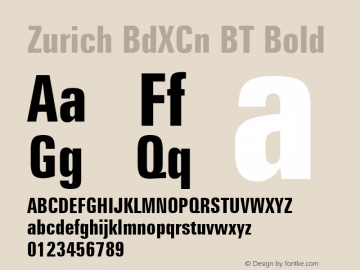 Zurich BdXCn BT Bold mfgpctt-v1.52 Tuesday, January 19, 1993 9:51:43 am (EST) Font Sample