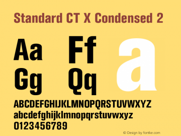 StandardCTX-Condensed2 Version 2.000;com.myfonts.easy.castletype.standard.condensed-extra-bold.wfkit2.version.3WJP图片样张