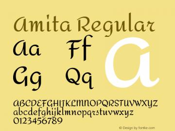 Amita Regular Version 1.004图片样张