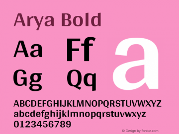 Arya Bold Version 1.002图片样张