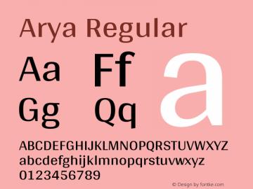 Arya Regular Version 1.002图片样张