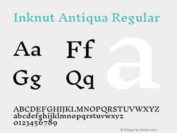Inknut Antiqua Regular Version 1.003图片样张