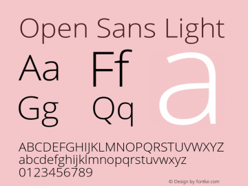 Open Sans Light Regular Version 1.10图片样张