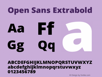 Open Sans Extrabold Regular Version 1.10图片样张