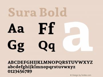 Sura Bold Version 1.002图片样张