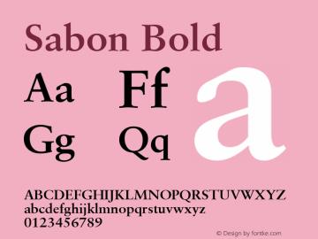 Sabon Bold Altsys Fontographer 4.1 4/8/97 Font Sample