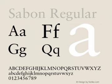 Sabon Regular OTF 1.0;PS 001.000;Core 1.0.22 Font Sample