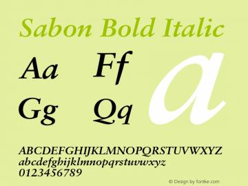 Sabon Bold Italic OTF 1.0;PS 001.000;Core 1.0.22 Font Sample