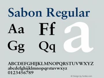 Sabon Regular 001.000 Font Sample