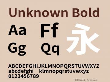 Unknown Font, Bold Font,Noto Sans CJK JP Bold Font| Bold Version 1 0