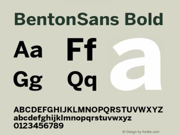 BentonSans Bold Version 1.000;PS 001.000;hotconv 1.0.38图片样张