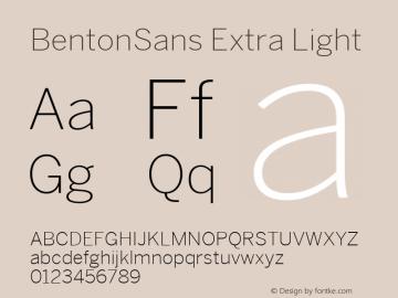 BentonSans Regular Version 1.000;PS 001.000;hotconv 1.0.38图片样张