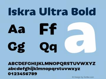 Iskra-UltraBold Version 1.000图片样张