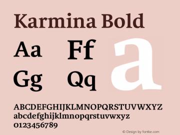 Karmina-Bold Version 1.1图片样张