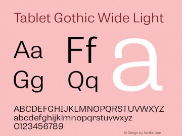 TabletGothicWide-Light 1.000图片样张