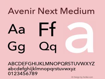 Avenir Next Medium 8.0d2e1图片样张