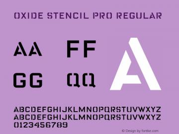 Oxide Stencil Pro Font,OxideStencilPro Font OxideStencilPro