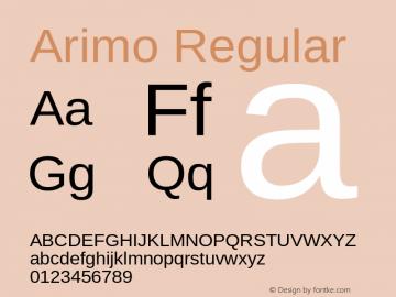 Arimo Version 1.23图片样张