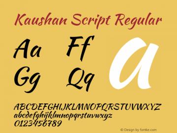 Kaushan Script Regular Version 1.002图片样张