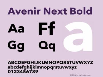 Avenir Next Bold 12.0d1e9图片样张