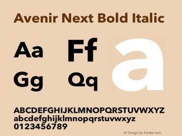 Avenir Next Bold Italic 12.0d1e9图片样张