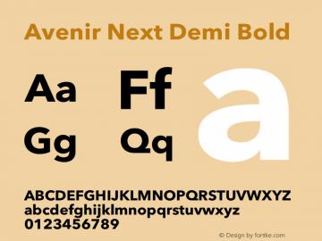 Avenir Next Demi Bold 12.0d1e9图片样张