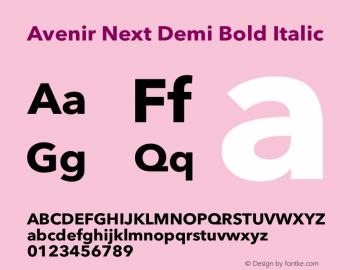 Avenir Next Demi Bold Italic 12.0d1e9图片样张