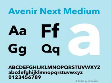 Avenir Next Medium 12.0d1e9图片样张