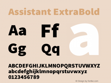 Assistant-ExtraBold Version 2.001图片样张