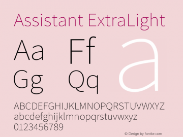 Assistant-ExtraLight Version 2.001图片样张