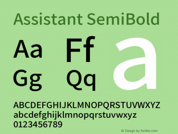 Assistant-SemiBold Version 2.001图片样张