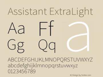 Assistant-ExtraLight Version 2.001;PS 002.001;hotconv 1.0.88;makeotf.lib2.5.64775图片样张