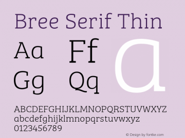 BreeSerifTh Version 1.001图片样张