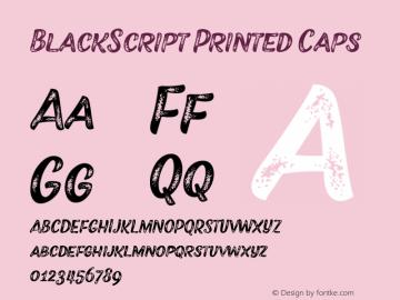BlackScript Printed Caps 1.000图片样张