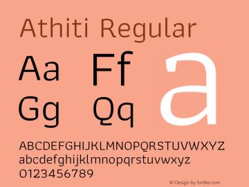 Athiti-Regular Version 1.032 Font Sample