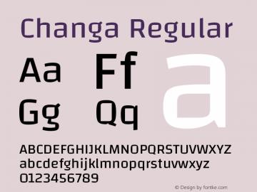 Changa-Regular Version 2.002; ttfautohint (v1.5.10-5e6f)图片样张