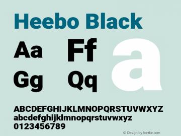 Heebo-Black Version 2.001; ttfautohint (v1.5.14-ce02) -l 8 -r 50 -G 200 -x 14 -D hebr -f latn -w G -W -c -X