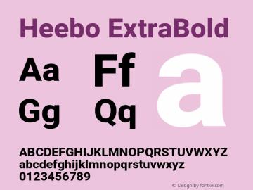 Heebo-ExtraBold Version 2.001; ttfautohint (v1.5.14-ce02) -l 8 -r 50 -G 200 -x 14 -D hebr -f latn -w G -W -c -X