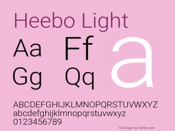 Heebo-Light Version 2.001; ttfautohint (v1.5.14-ce02) -l 8 -r 50 -G 200 -x 14 -D hebr -f latn -w G -W -c -X