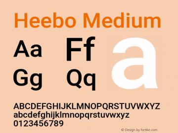 Heebo-Medium Version 2.001; ttfautohint (v1.5.14-ce02) -l 8 -r 50 -G 200 -x 14 -D hebr -f latn -w G -W -c -X