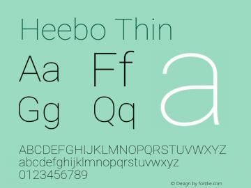 Heebo-Thin Version 2.001; ttfautohint (v1.5.14-ce02) -l 8 -r 50 -G 200 -x 14 -D hebr -f latn -w G -W -c -X