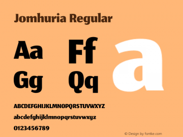 Jomhuria Version 1.0000 Font Sample