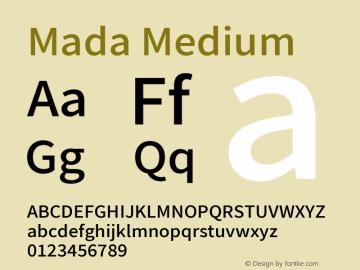 Mada Medium Version 001.005 ; ttfautohint (v1.5.33-1714) -l 8 -r 50 -G 200 -x 0 -D latn -f arab -w G -W -c -X