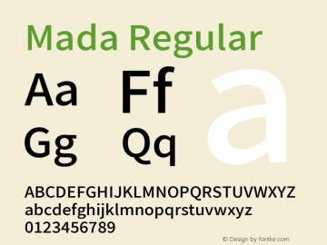 Mada Regular Version 001.005 ; ttfautohint (v1.5.33-1714) -l 8 -r 50 -G 200 -x 0 -D latn -f arab -w G -W -c -X