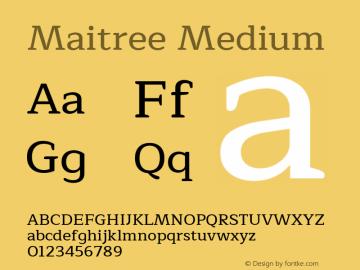 Maitree-Medium Version 1.000 Font Sample