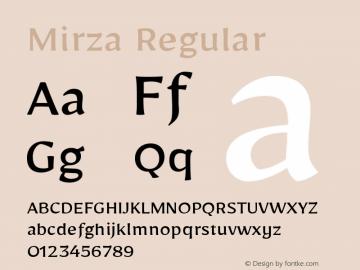 Mirza Regular Version 1.0010g图片样张